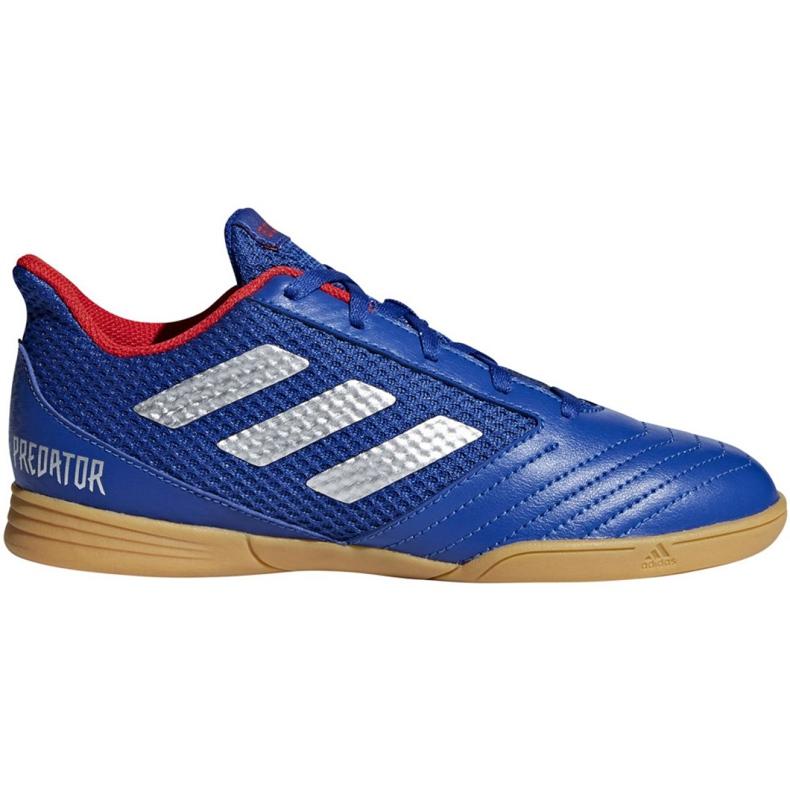 Buty halowe adidas Predator 19.4 In Sala Jr CM8551 niebieskie niebieski