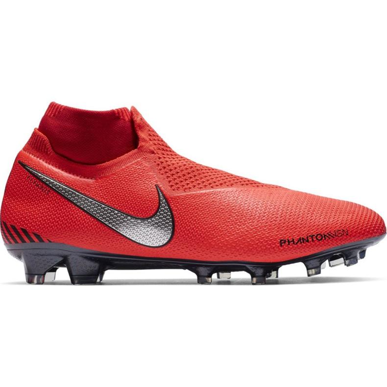 Buty piłkarskie Nike Phantom Vsn Elite Df Fg M AO3262-600 czerwone czerwone