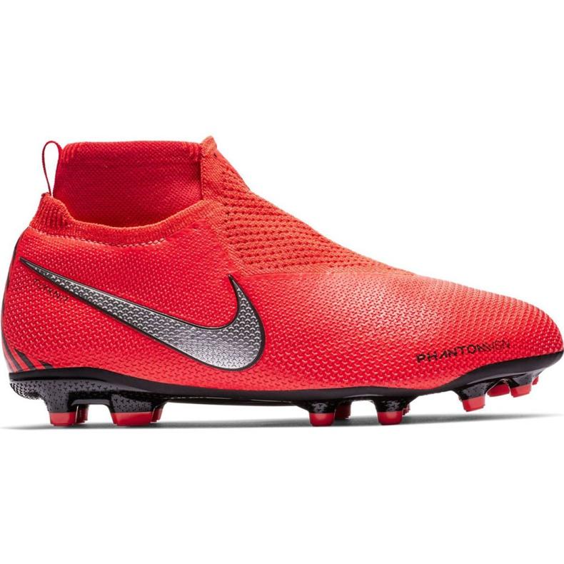 Buty piłkarskie Nike Phantom Vsn Elite Df Mg Jr AO3289-600 czerwone wielokolorowe