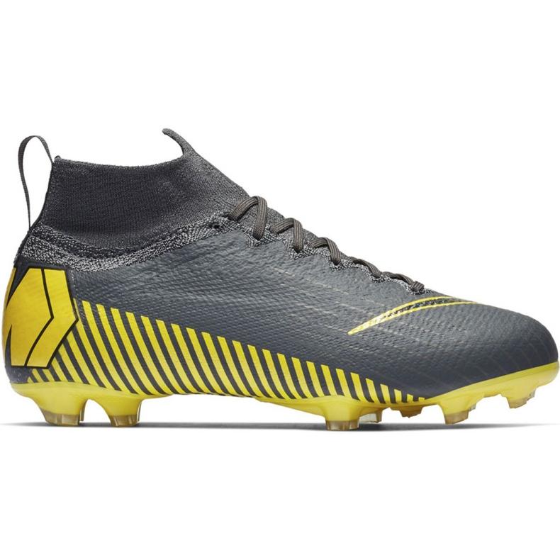 Buty piłkarskie Nike Mercurial Superfly 6 Elite Fg Jr AH7340-070 czarne szare