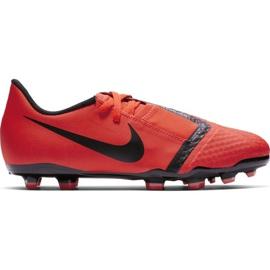 Buty piłkarskie Nike Phantom Venom Academy Fg Jr AO0362-600 czerwone wielokolorowe