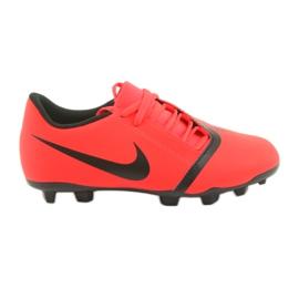 Buty piłkarskie Nike Phantom Venom Club Fg Jr AO0396-600 czerwone wielokolorowe