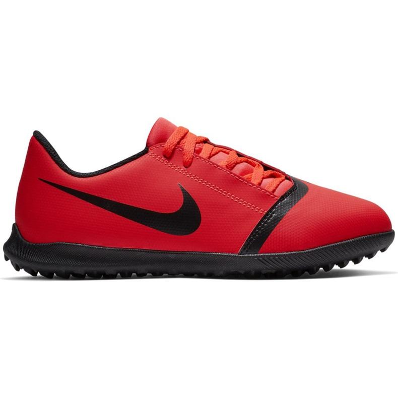 Buty piłkarskie Nike Phantom Venom Club Tf Jr AO0400-600 czerwone wielokolorowe