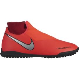 Buty piłkarskie Nike Phantom Vsn Academy Df Tf M AO3269-600 czerwone wielokolorowe