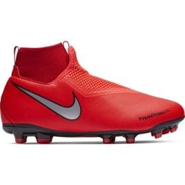 Buty piłkarskie Nike Phantom Vsn Academy Df FG/MG Jr AO3287-600 czerwone czerwone