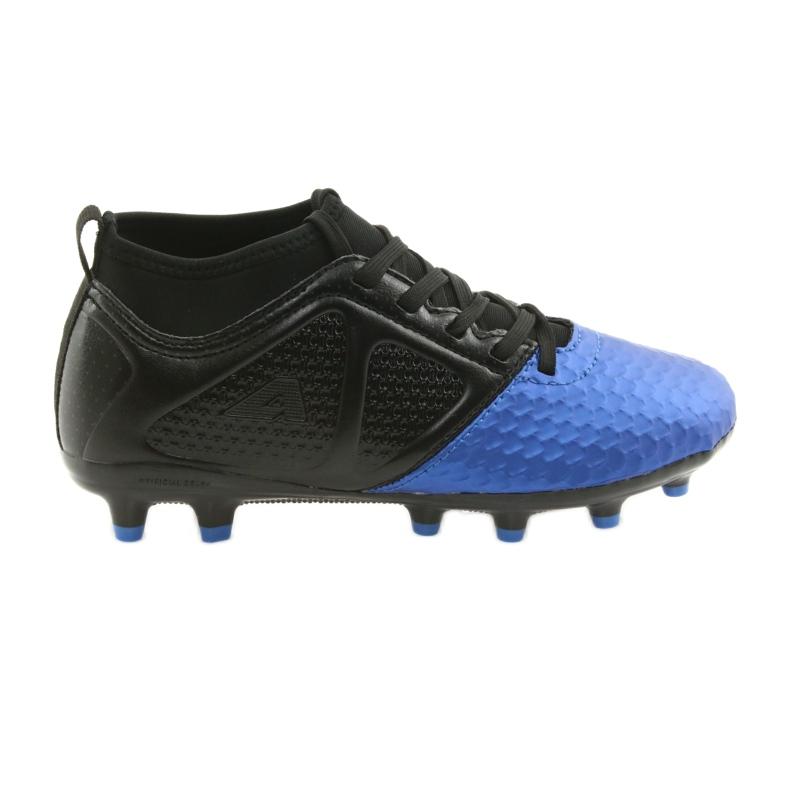 Sportowe korki chłopięce American Club OG23 Royal/Black niebieskie