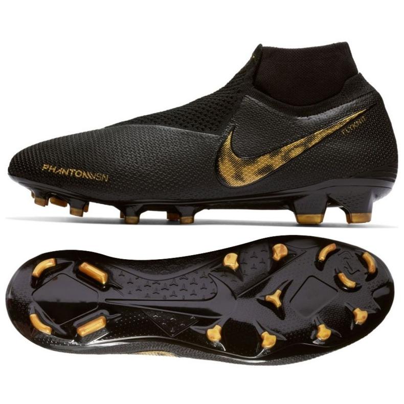 Buty piłkarskie Nike Phantom Vsn Elite Df Fg M AO3262-077 czarne czarne