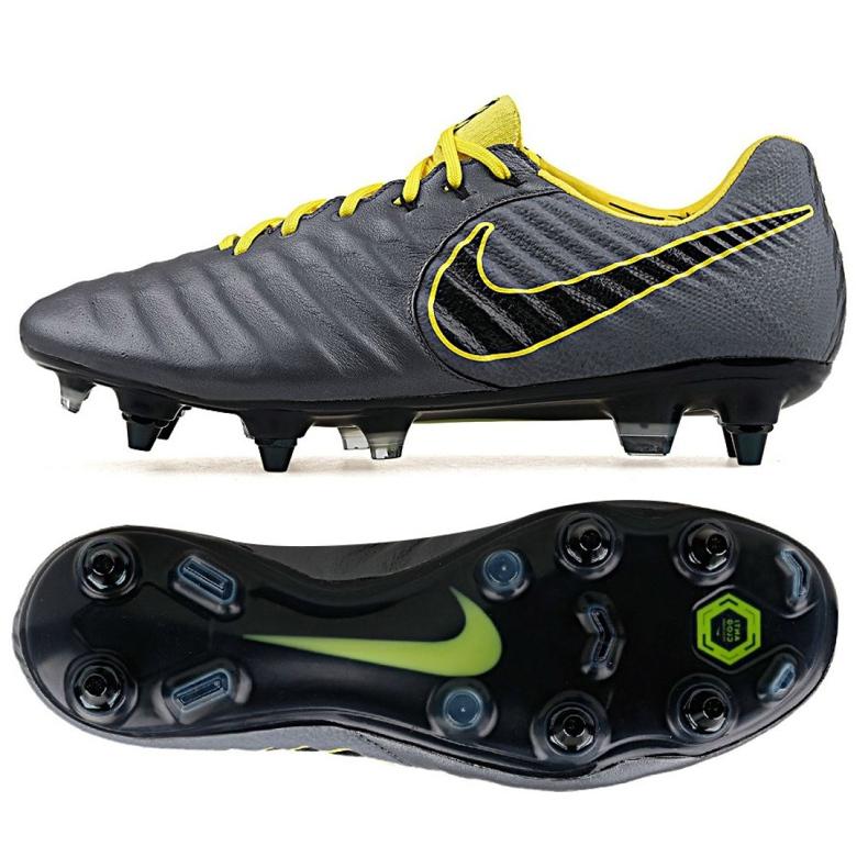Buty piłkarskie Nike Tiempo Legend 7 Elite Sg Pro Ac M AR4387-070 szare wielokolorowe