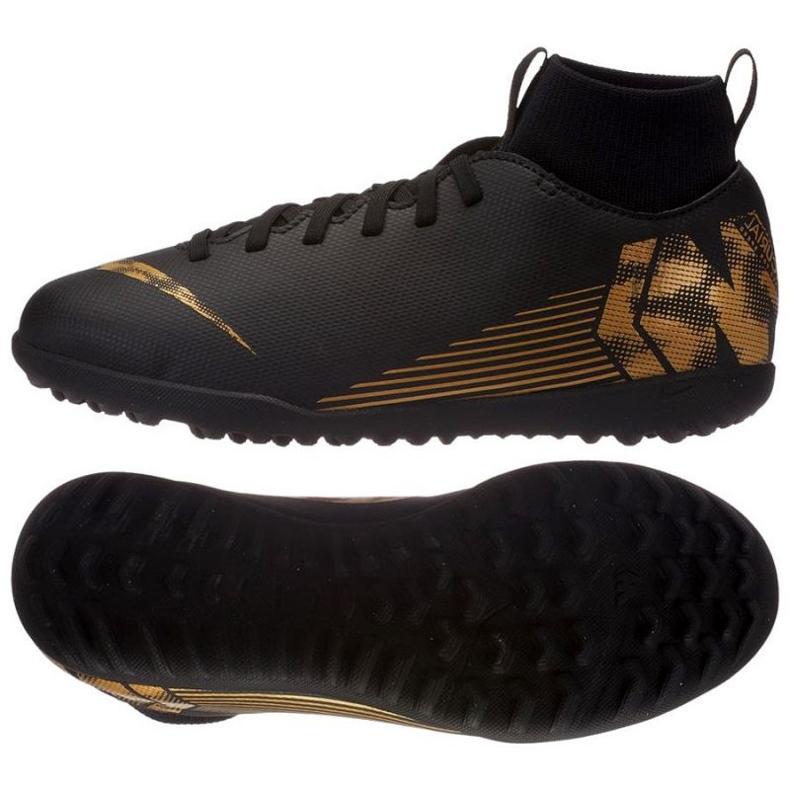 Buty piłkarskie Nike Mercurial SuperflyX 6 Club Tf Jr AH7345-077 czarne czarne