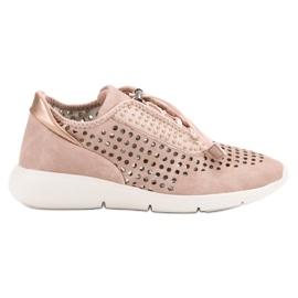 Aclys różowe Lekkie Buty Sportowe