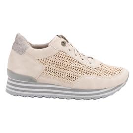 Aclys brązowe Sneakersy Ze Wzorem