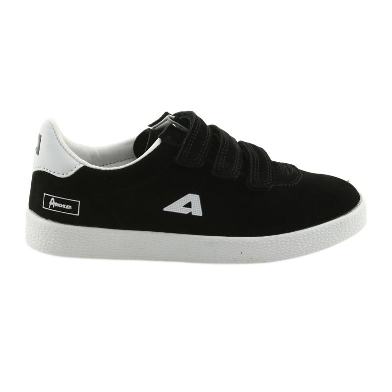 Buty Sportowe wkładka skórzana  American Club BS06 białe czarne