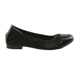 Balerinki damskie gumka Gamis 1402 czarne