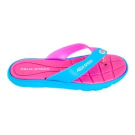 Różowe Klapki Aqua-Speed Bali różowo-niebieskie 03 479