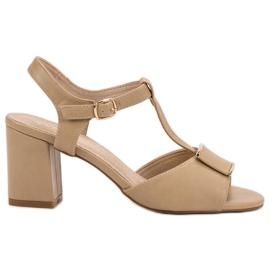 Vinceza brązowe Eleganckie Sandały
