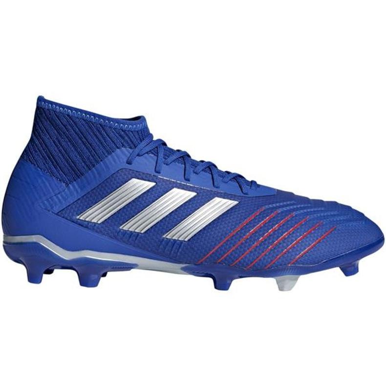 Buty piłkarskie adidas Predator 19.2 Fg M BB8111 niebieskie wielokolorowe