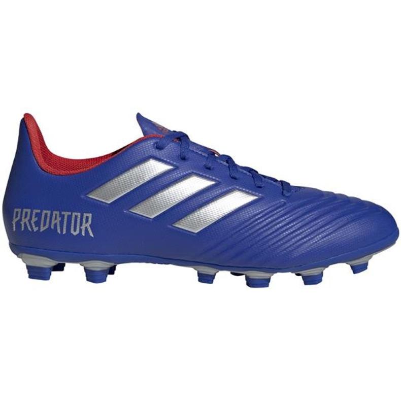 Buty piłkarskie adidas Predator 19.4 FxG M BB8113 niebieskie wielokolorowe