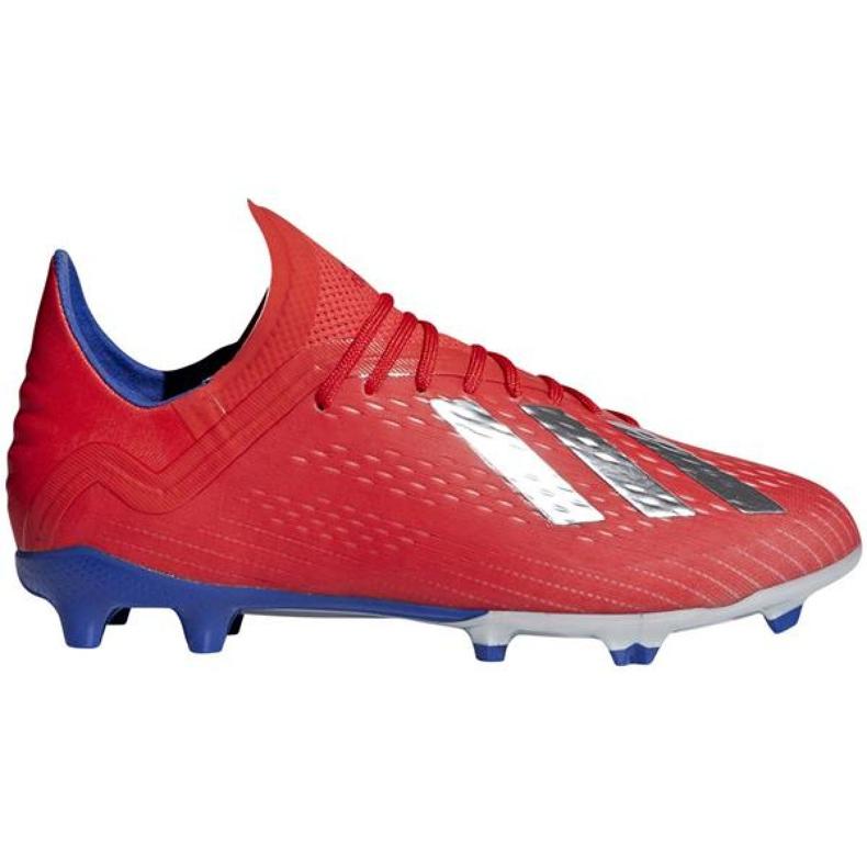 Buty piłkarskie adidas X 18.1 Fg Jr BB9353 czerwone czerwone