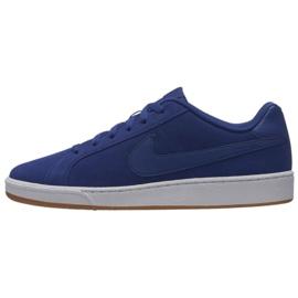 Niebieskie Buty Nike Court Royale Suede M 819802-405