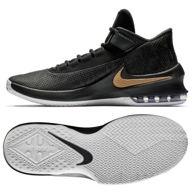 Buty koszykarskie Nike Air Max Infuriate 2 Mid M AA7066-002 czarne czarne