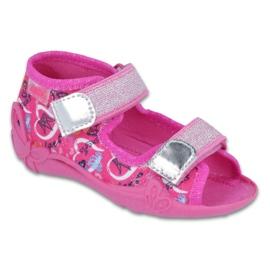 Różowe Befado obuwie dziecięce 242P087