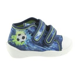 Niebieskie Befado pomarańczowe obuwie dziecięce 212P058