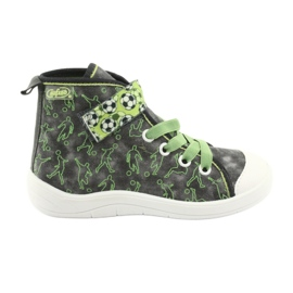 Befado obuwie dziecięce 268X070 szare zielone