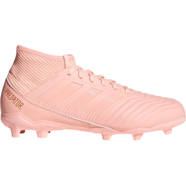 Buty piłkarskie adidas Predator 18.3 Fg Jr DB2317 różowe różowe