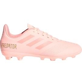 Buty piłkarskie adidas Predator 18.4 FxG Jr DB2322 różowy różowe
