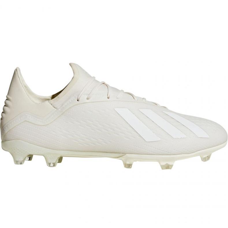 Buty piłkarskie adidas X 18.2 Fg M DB2181 białe białe