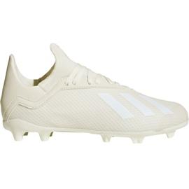 Buty piłkarskie adidas X 18.3 Fg Jr DB2417 białe wielokolorowe