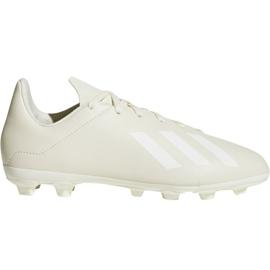 Buty piłkarskie adidas X 18.4 FxG Jr DB2421 białe białe