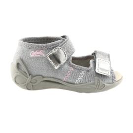 Befado obuwie dziecięce 342P002 srebrzyste szare