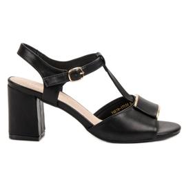 Vinceza czarne Eleganckie Sandały