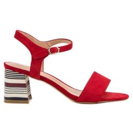 Modne Czerwone Sandały VINCEZA