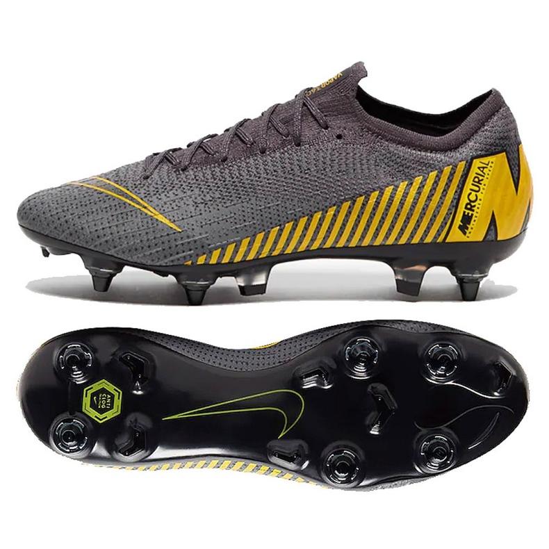 Buty piłkarskie Nike Mercurial Vapor 12 Elite Sg Pro Ac M AH7381-070 szare szare