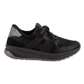 Ideal Shoes czarne Wsuwane Buty Sportowe