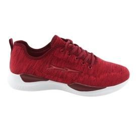 Sportowe męskie wiązane  DK SC235 czerwone