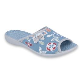 Befado obuwie damskie pu 254D104 niebieskie