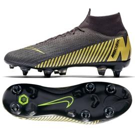 Buty piłkarskie Nike Mercurial Superfly 6 Elite SG-Pro M AH7366-070 czarne wielokolorowe