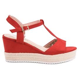 Seastar Czerwone Sandały Espadryle