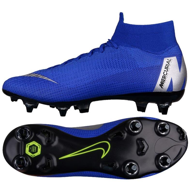 Buty piłkarskie Nike Mercurial Superfly 6 Elite SG-Pro M AH7366-400 niebieskie niebieskie