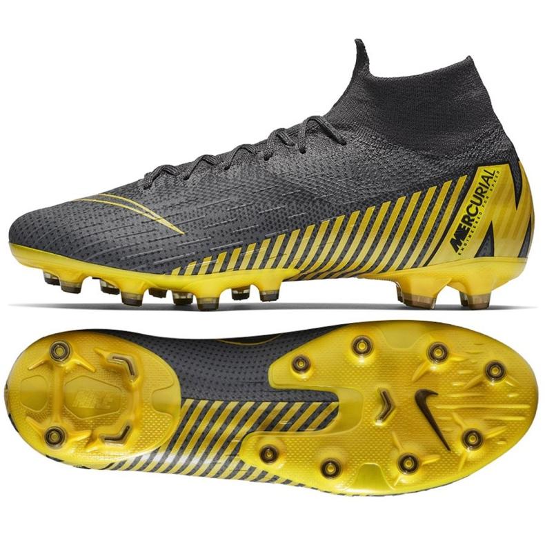 Buty piłkarskie Nike Mercurial Superfly 6 Elite Ag Pro M AH7377-070 czarne szare