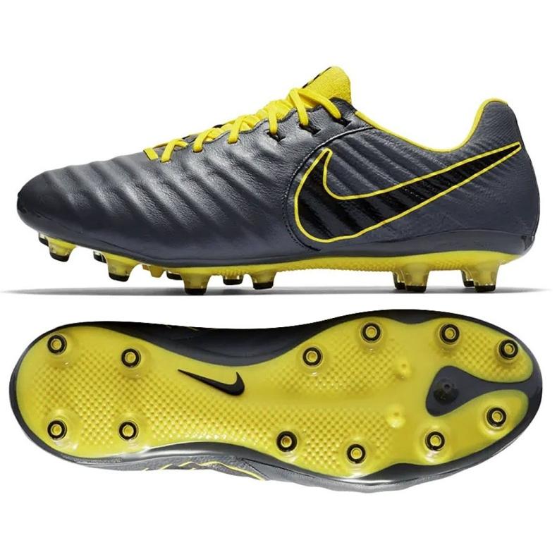 Buty piłkarskie Nike Tiempo Legend 7 Elite Ag Pro M AH7423-070 czarne szare