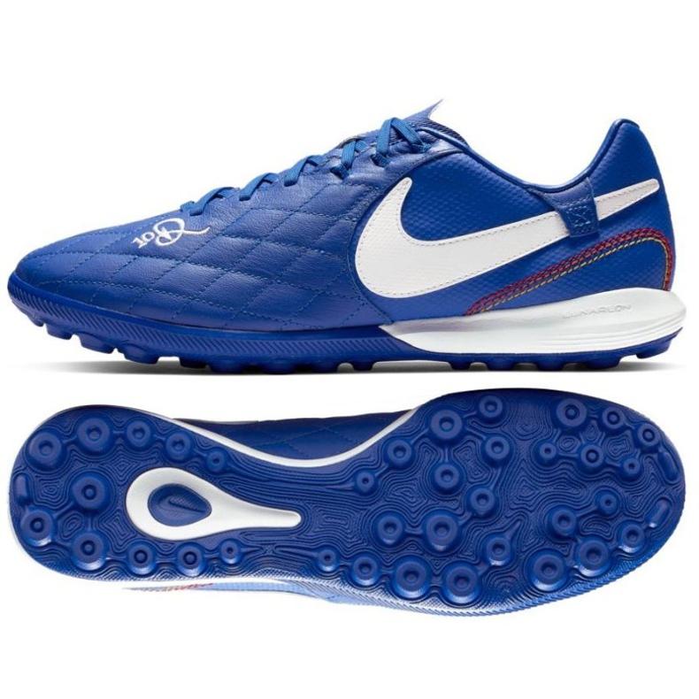 Buty piłkarskie Nike Tiempo Lunar LegendX 7 Pro 10R Tf M AQ2212-410 niebieskie niebieski