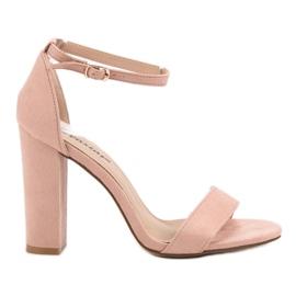 Seastar różowe Seksowne Sandałki Na Słupku