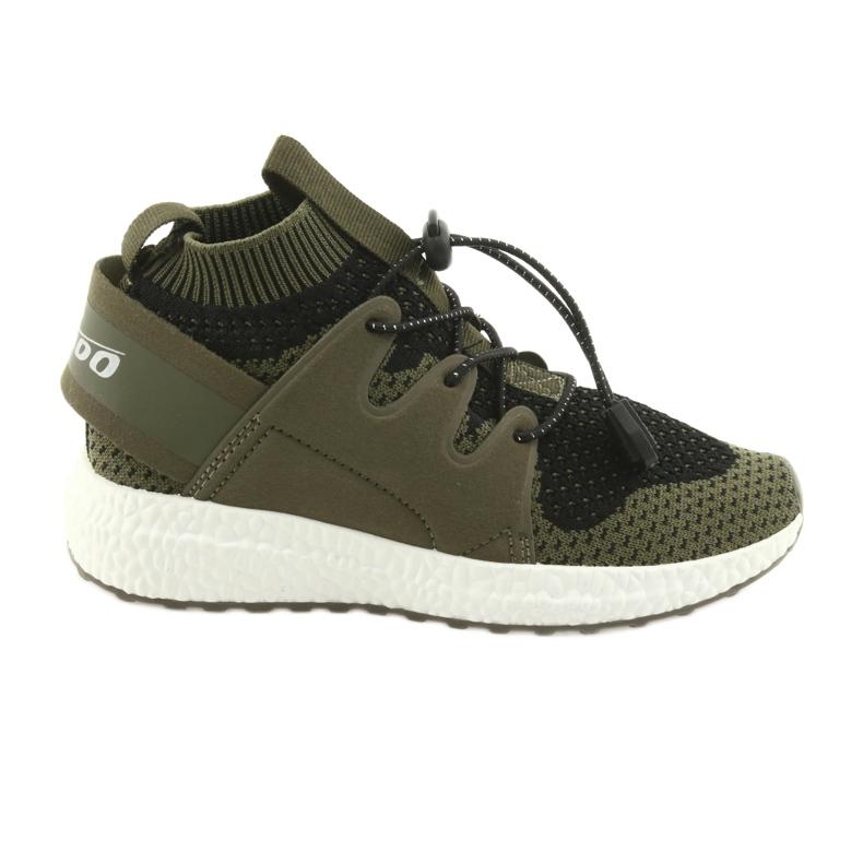 Befado obuwie dziecięce do 23 cm 516Y028 czarne zielone