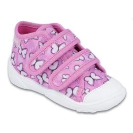 Różowe Befado obuwie dziecięce 212P060