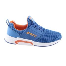 Bartek 58110 Buty sportowe wsuwane niebieskie pomarańczowe