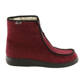 Befado obuwie damskie pu 996D005 bordowe
